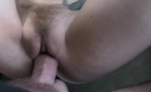 Lesbian redhead needs cock in cab