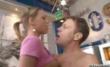 Rocco Siffredi likes to make noise with those 2 cute teens