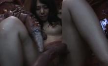 Japanese slave sucking monsters huge tentacles