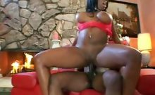 Ebony with Big Tits Riding a Cock