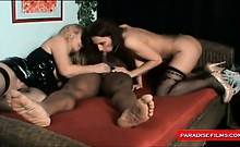 Two german mature wifes sharing a big black cock