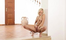Bombshell Naomi Nevena gets her soft twat and fingers wet