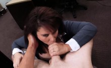 Big boobs milf have sex in the backroom