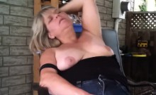Fat Mature Woman Playing With Her Pussy